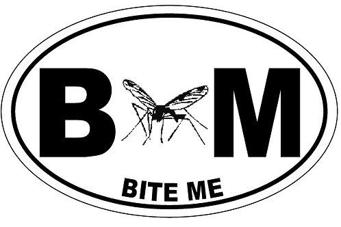 10724 - Oval Sticker Bite Me Mosquito