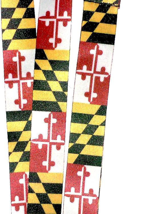 66018 - Sublimated Neck Lanyard Maryland Flag