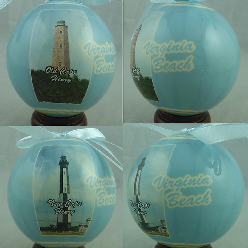 21439 - Hand Wrapped Ball Ornament Cape Henry