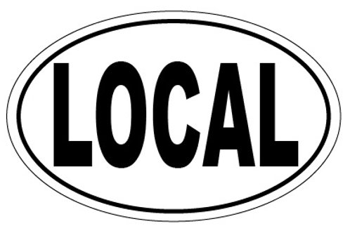 10787 - Oval Sticker LOCAL