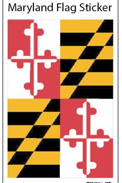 66754 - Hanging Sticker Maryland Flag