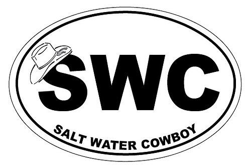 10725 - Oval Sticker SWC