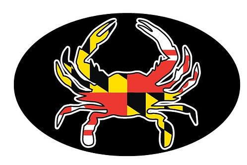 66067 - Oval Sticker Maryland Flag Crab