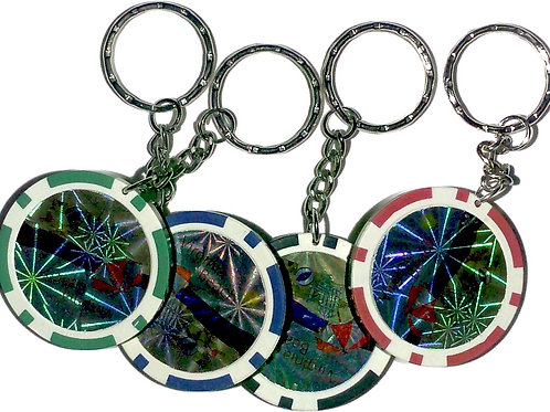30582 - Poker Chip Key Ring VB Assorted