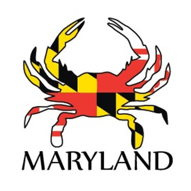 66008 - Rubber Foil Maryland Flag Crab Magnet