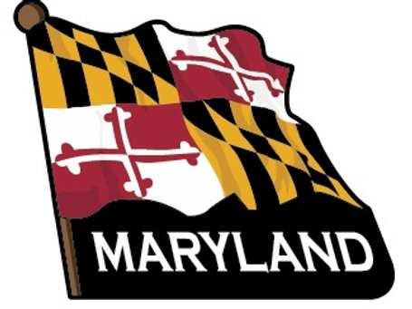 66036 - 2 Level Decowood Waving MD Flag Magnet