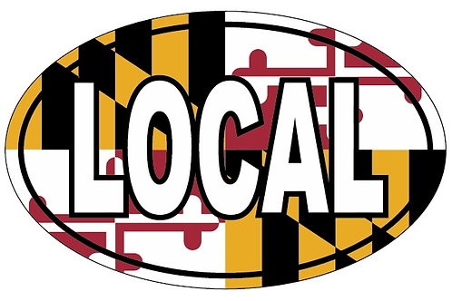 66075 - Oval Sticker LOCAL MD Flag