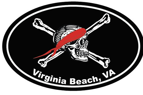 30062 - Oval Sticker VB Pirate