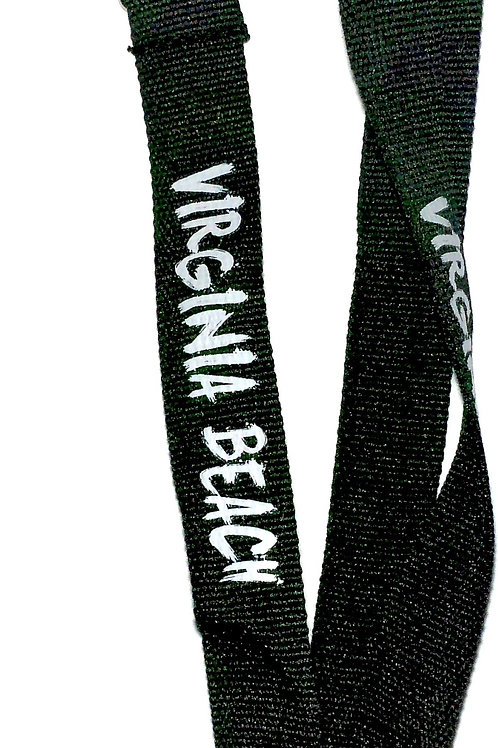 30083 - Screened Lanyard VB White on Black