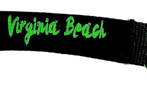 30485 - Lanyard Key Ring VB Neon Green on Black