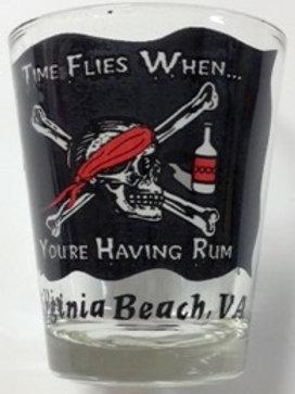30022 - Shot Glass VB Time Flies Pirate
