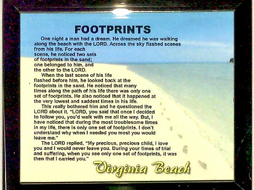 30012 - Framed Magnet VB Footprints