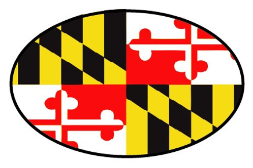 66066 - Oval Sticker Maryland Flag