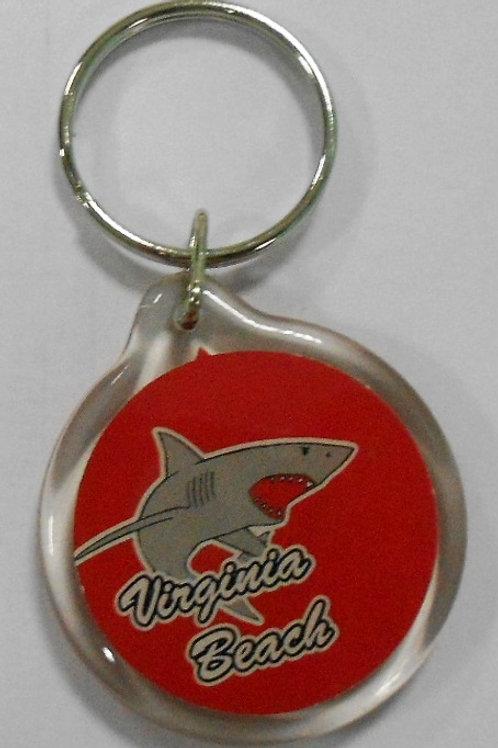 30197 - Lucite Key Ring VB Shark