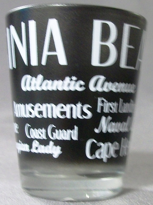 30323 - Type Wrap Shot Glass VB Attraction Black