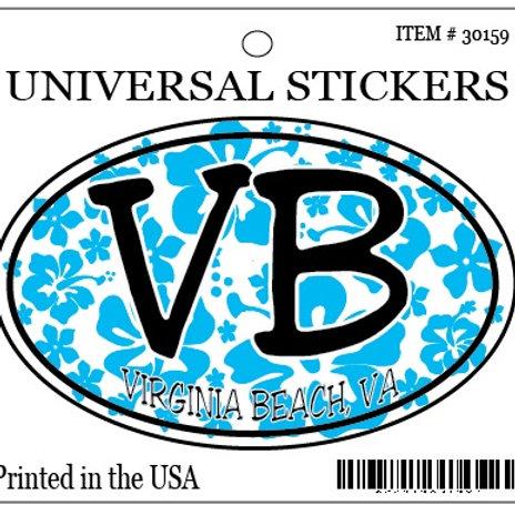 30159 - Hanging Sticker VB Blue Hibiscus
