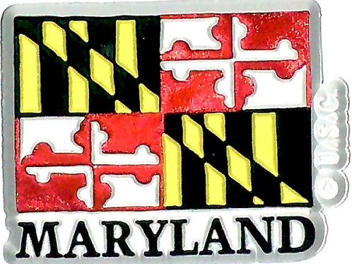66701 - Rubber Magnet Maryland Flag