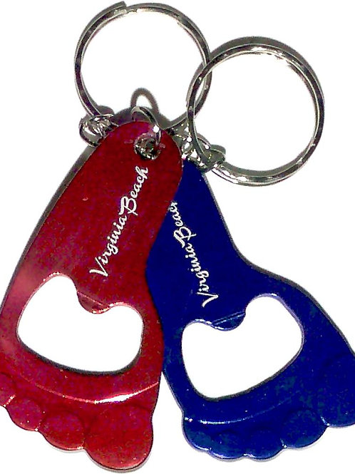 30395 - Alloy Bottle Opener Key Ring VB Foot