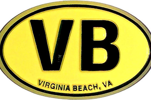 30305 - Rubber Magnet VB Oval Yellow