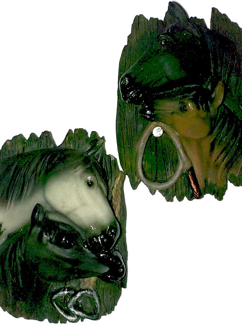 10338 - Resin Magnet Horse Head Assorted
