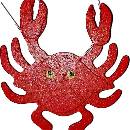 10168 - Wooden Write on Ornament Red Crab