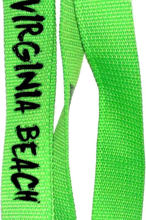 30081 - Screened Lanyard VB Black on Green