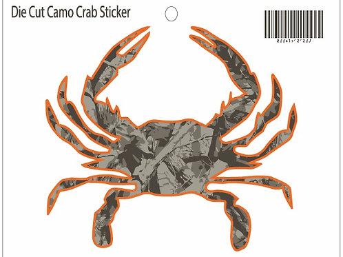 12122 - Die Cut Crab Sticker Camo