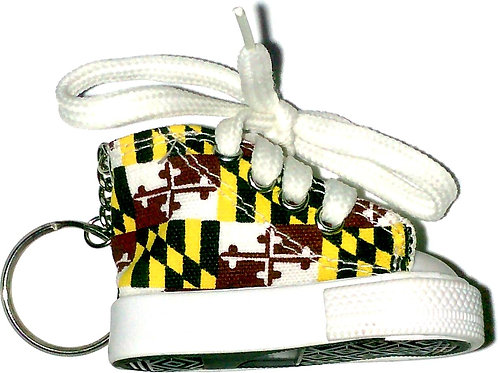 66017 - Shoe Key Ring Maryland Flag