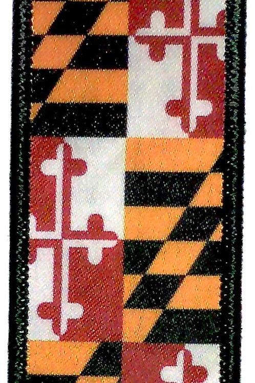 66048 - Fabric Luggage Tag / ID Key Ring MD Flag