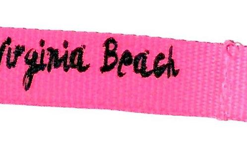 30488 - Lanyard Key Ring VB Black on Pink