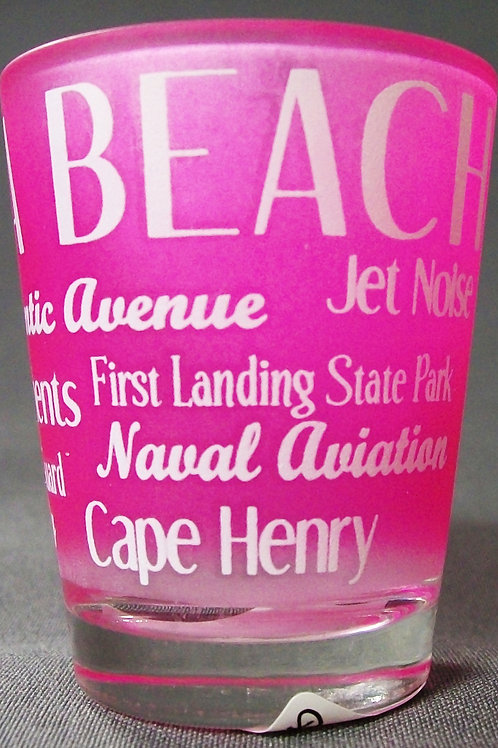 30321 - Type Wrap Shot Glass VB Attractions Pink