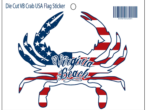 30705 - Die Cut Crab Sticker VB American Flag