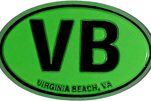 30304 - Rubber Magnet VB Oval Green