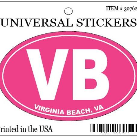 30762 - Hanging Oval Sticker VB Pink