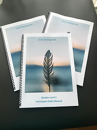 Workbooks with a feather on front cover
