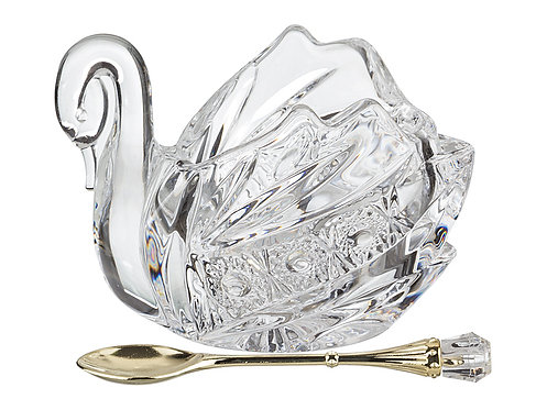 """Икорница с ложкой """"Лебедь"""", «Lefard», 195-112"""