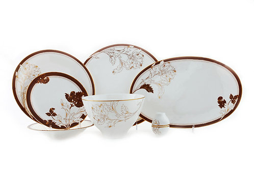 "Столовый сервиз, 27пр., ""Мария Браун"", «Royal Fine China», 9004/27009"