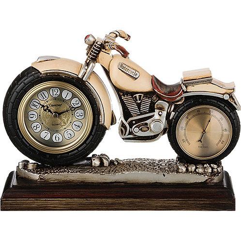 """Настольные часы с термометром Lefard """"Мотоцикл"""""""