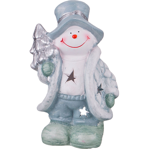 """Подсвечник """"Снеговик""""."""