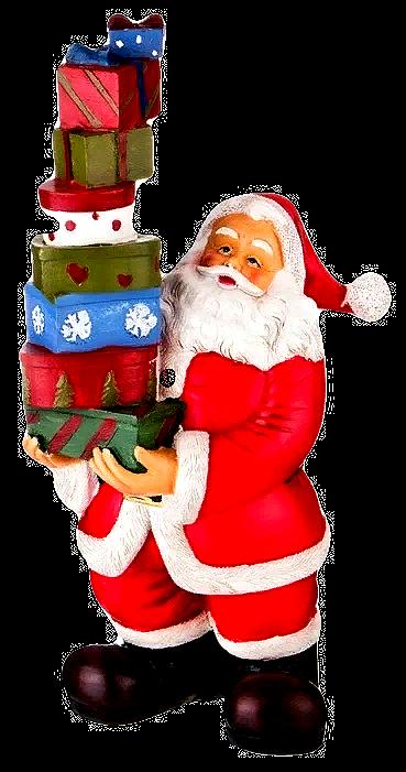 """Фигурка """"Санта с подарками""""."""