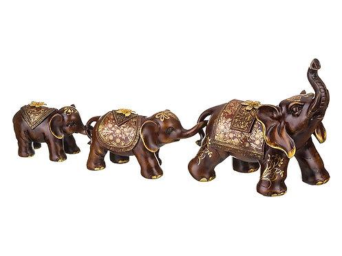 Набор фигурок слонов из 3 шт. «Семейные традиции», 114-180
