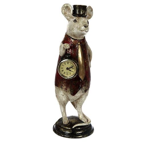 """Фигурка """"Мышка с часами"""", 11 x 11 x 32 см."""