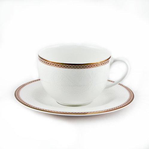 """Чайный сервиз, 12пр., """"Золотая вышивка"""", «Royal Bone China», 8946/12121"""