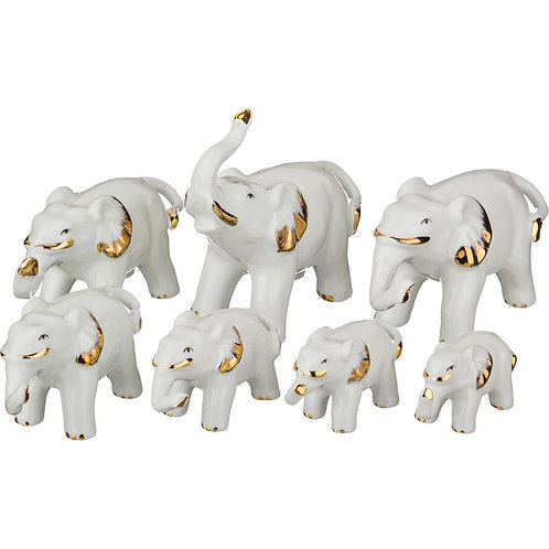 """Комплект статуэток Lefard """"7 слонов""""."""