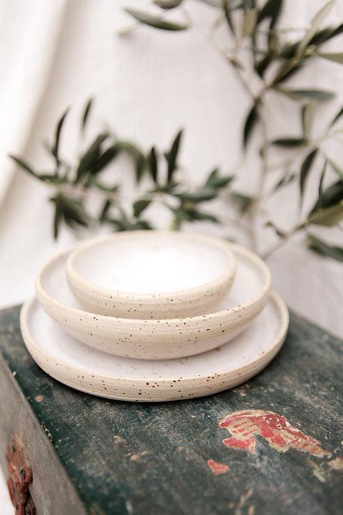 Petite assiette grès pyrité
