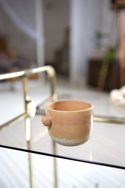 Tasse à café - émail pêche