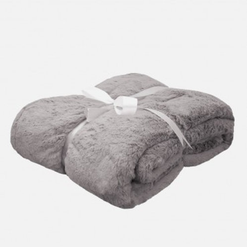 PLUSH BAMBOO THROW BLANKET - GRAPHITE