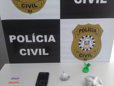 Homem é preso antes de arressar drogas para o interior de presídio de Três Passos