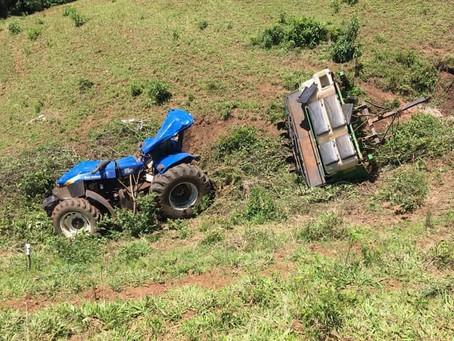 Servidor Público morre após trator e plantadeira tombar em Erval Seco