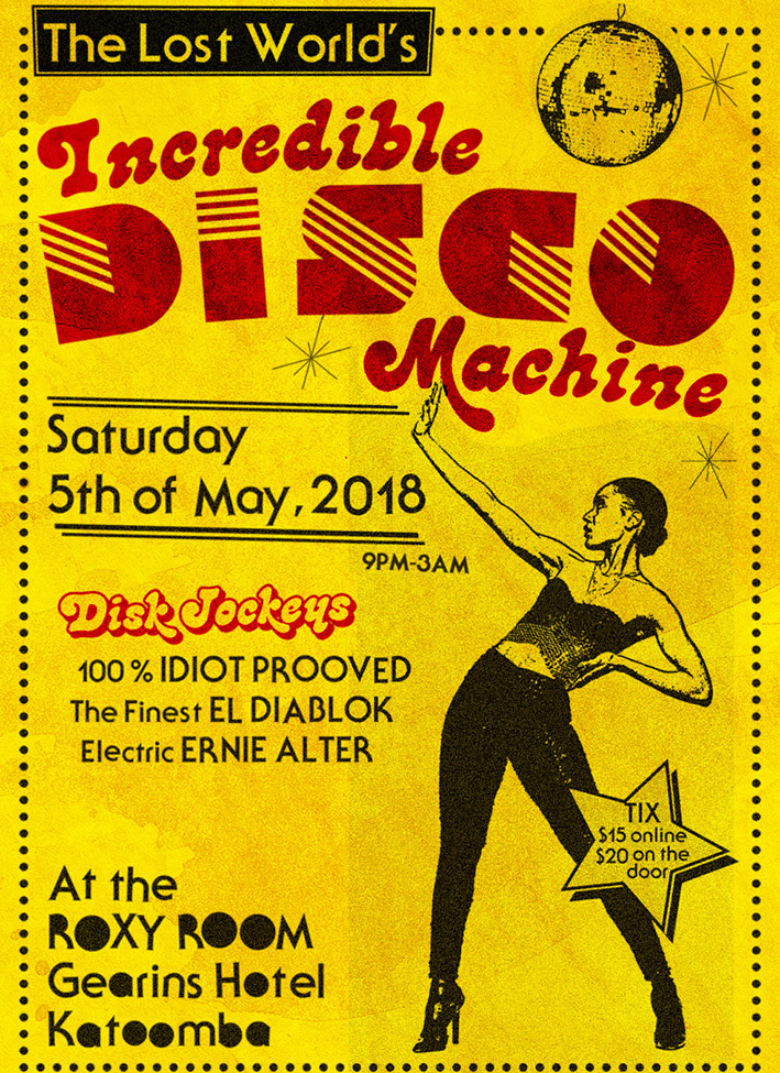Incredible Disco retro poster